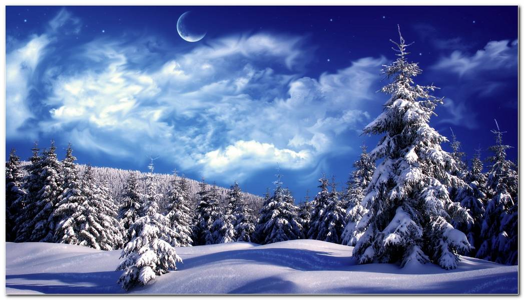 Landscape Winter Season Winter Snow Nature Wallpaper Background