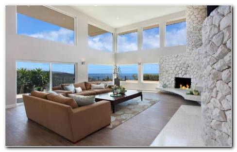 Living Room With Fireplace Interior HD Wallpaper
