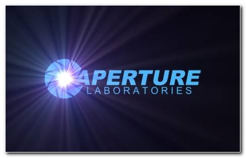 Logo Aperture Science HD Wallpaper
