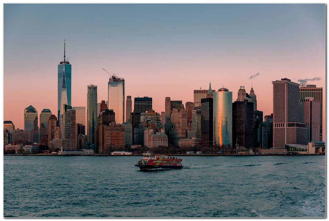 Lower Manhattan Sunset Wallpaper