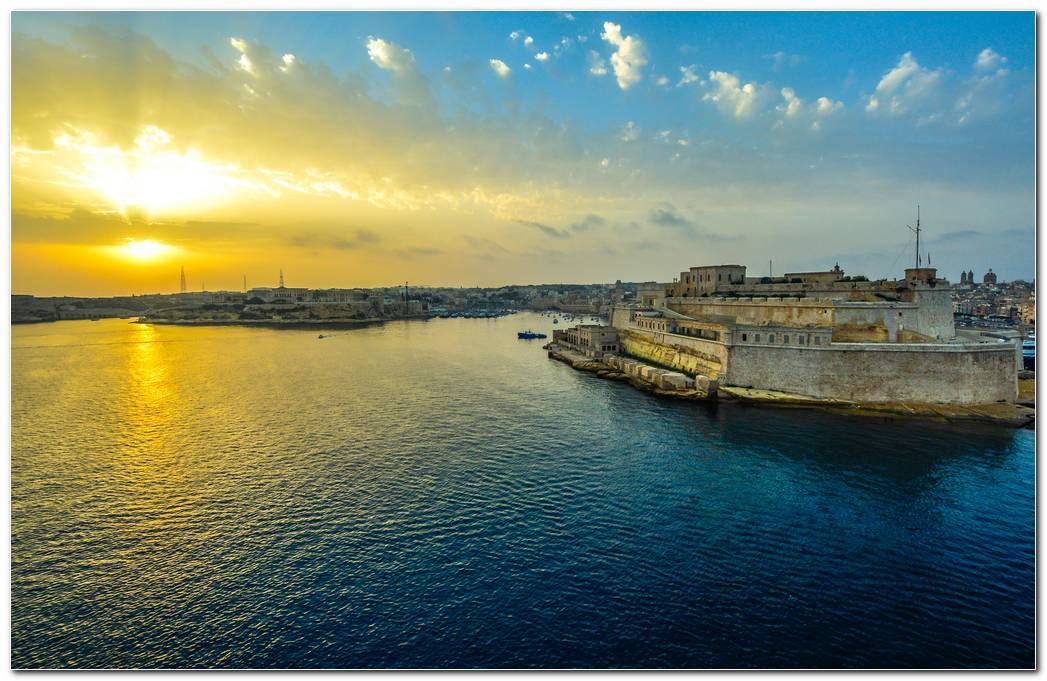 Malta Sunrise Hd Wallpaper Background