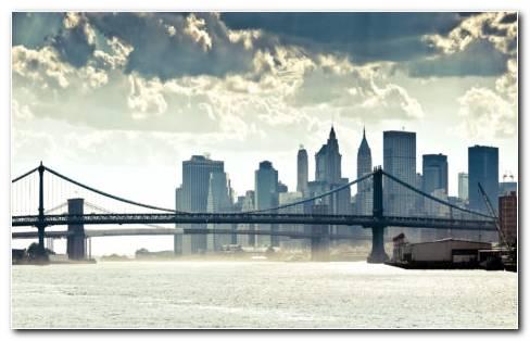 Manhattan Panorama River HD Wallpaper