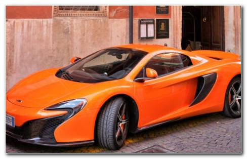 McLaren Orange Supercar HD Wallpaper