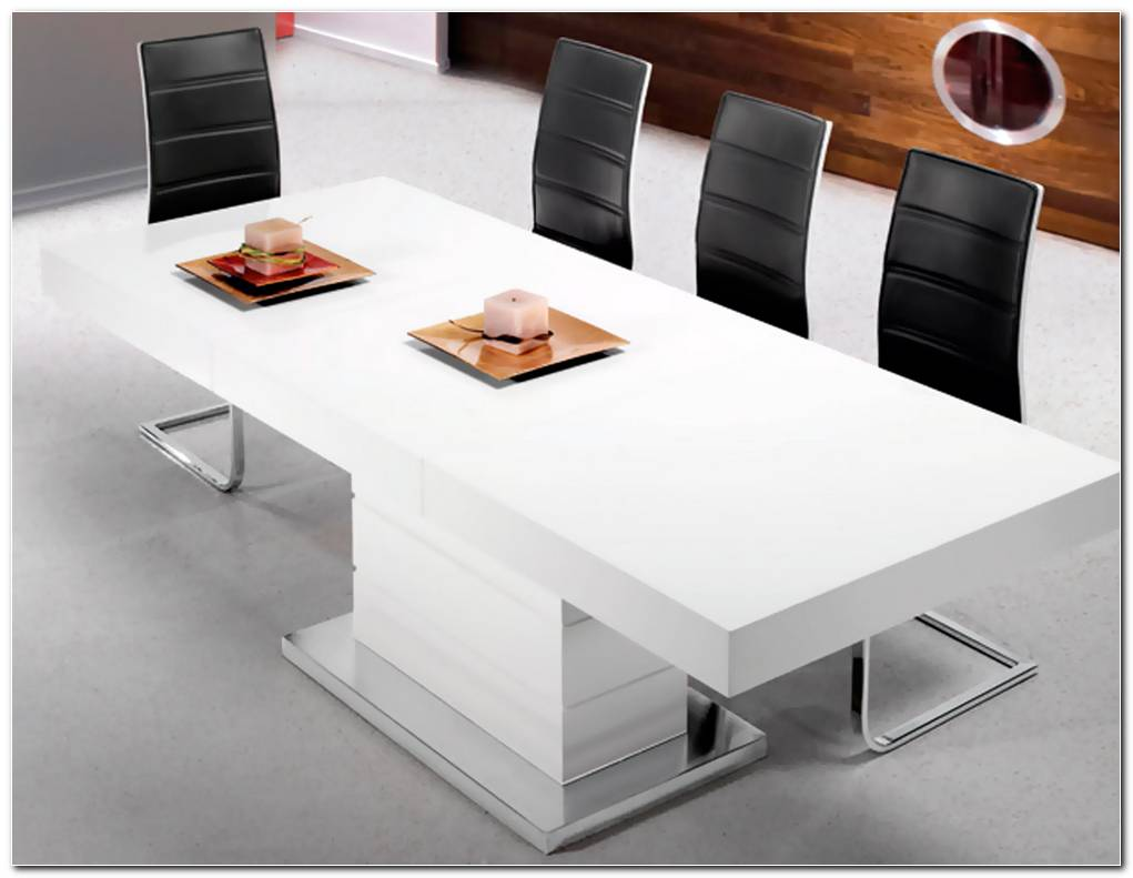 Mesa De Comedor Lacada Blanca