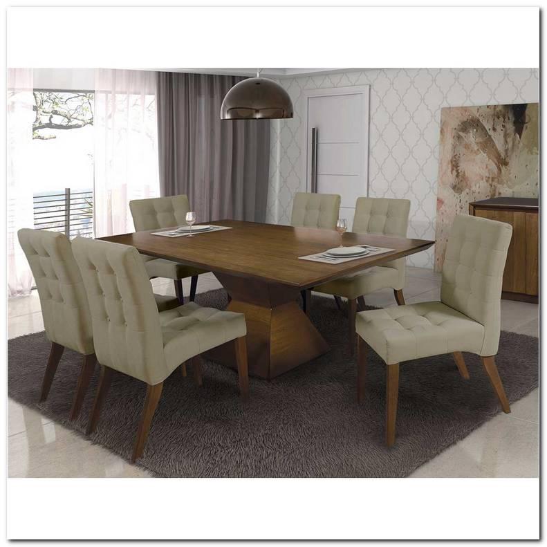 Mesa Para Sala De Estar Com 6 Cadeiras