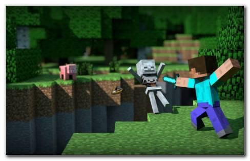 Minecraft Skeleton HD wallpaper