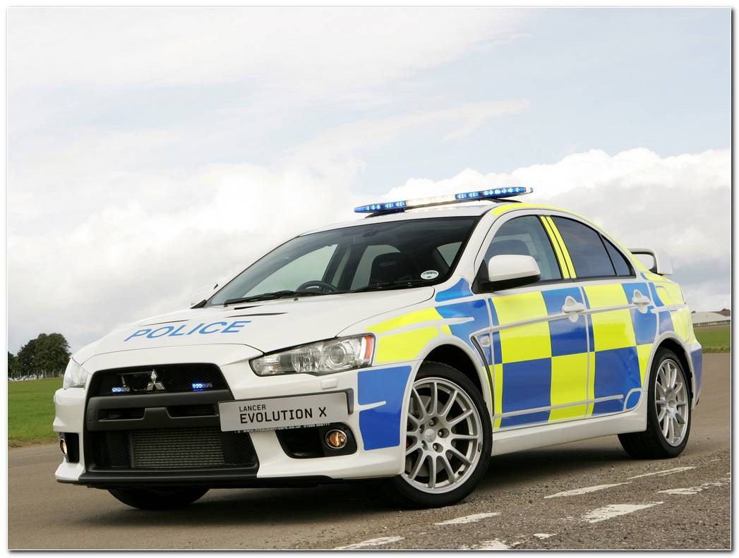 Mitsubishi Lancer Evolution X Police Edition Wallpapers Car Walls 2048x1536