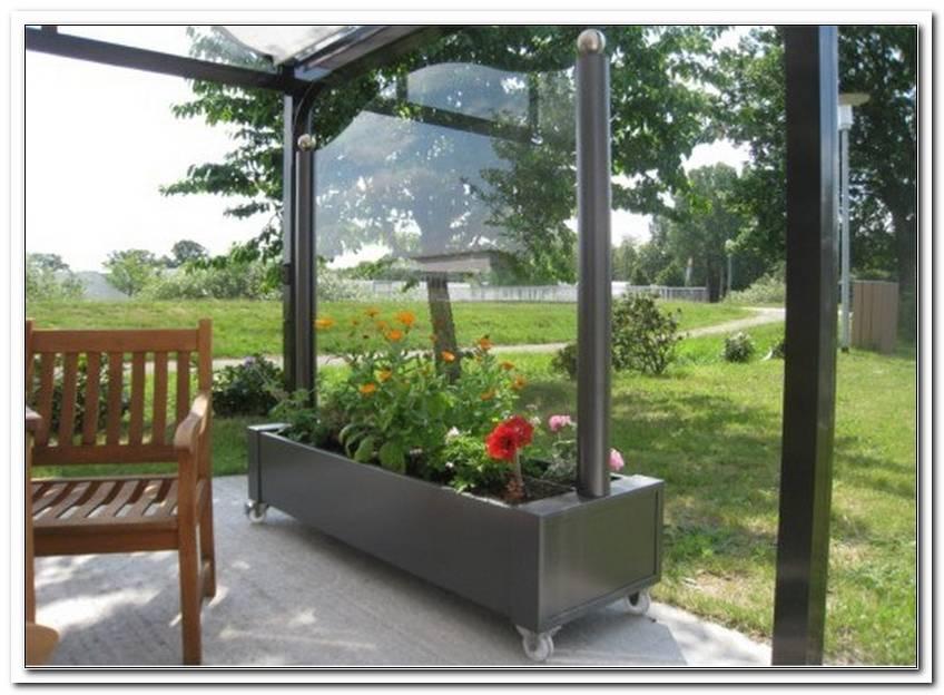 Mobiler Windschutz Terrasse