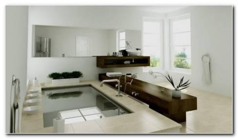 Modern Bathroom Interior HD Wallpaper