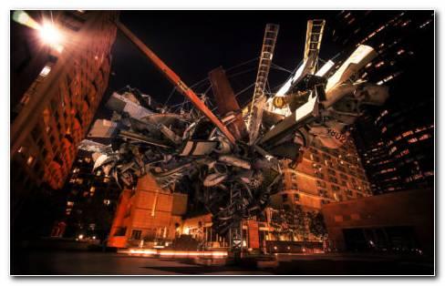 Modern Sculpture Architecture HD Wallpaper