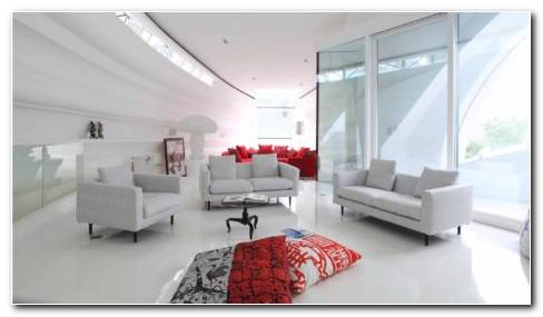 Modern White Living Room HD Wallpaper