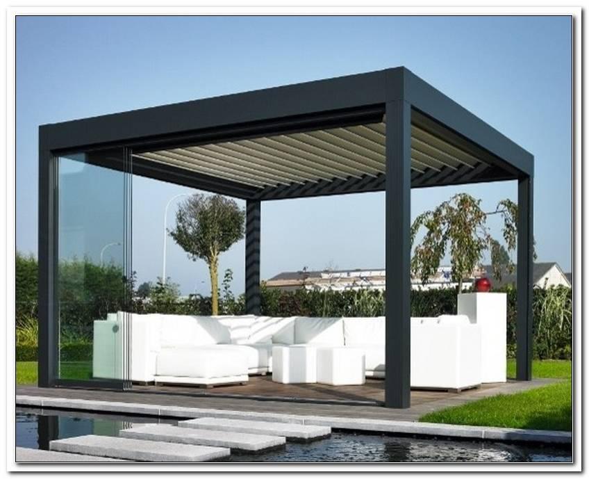 Moderne Terrassen?Berdachung Mit Lamellen