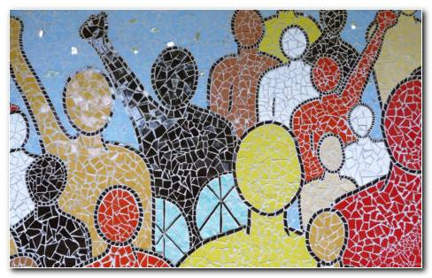 Mosaic wall art HD wallpaper