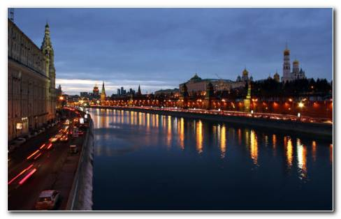 Moscow Night Russia HD Wallpaper