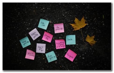 Motivational Post Its HD Wallpaper