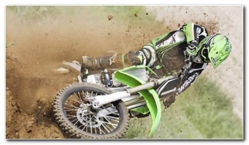 Motocross Drifting HD Wallpaper