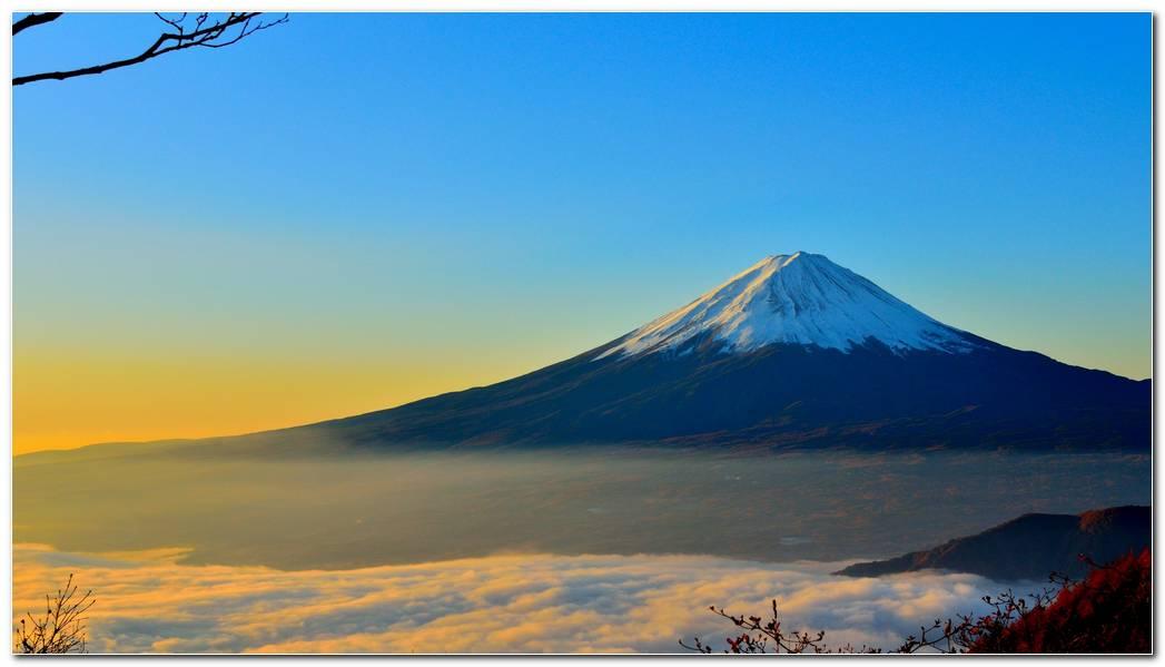 Mount Fuji Sunrise Wallpaper Hd
