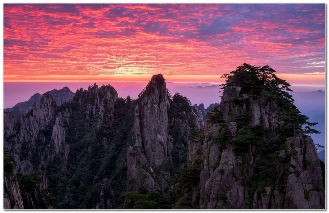 Mountain Nature Sunset Wallpaper