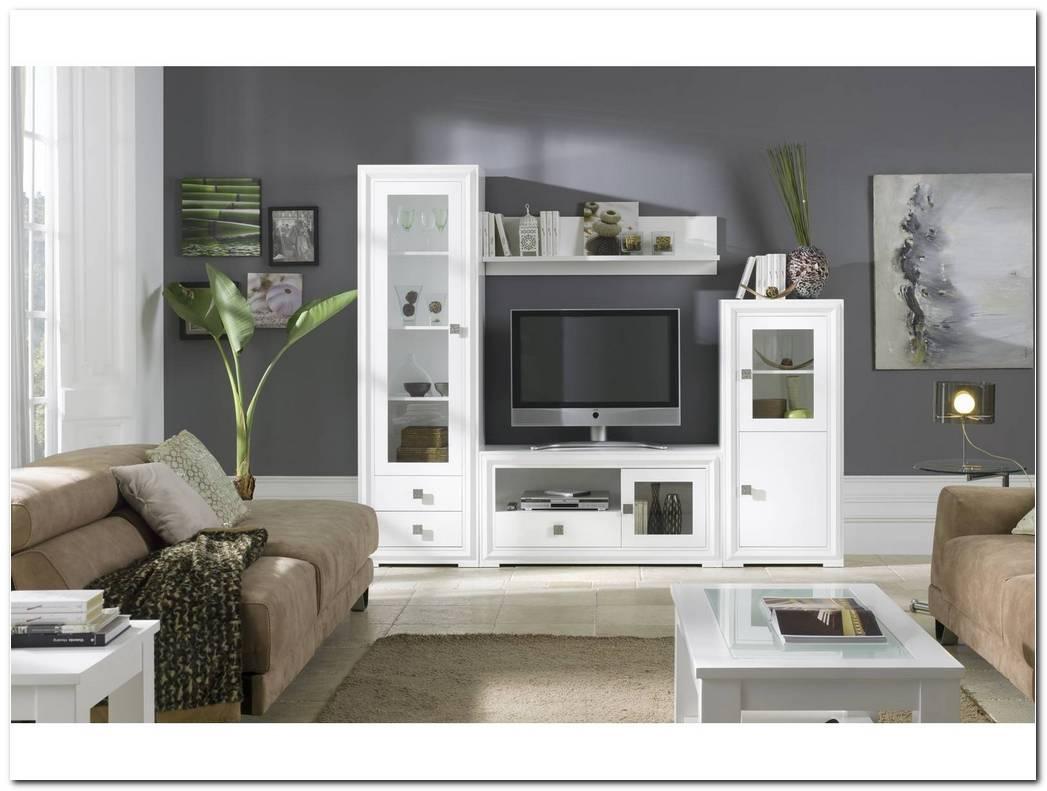 Mueble Salon Lacado Blanco