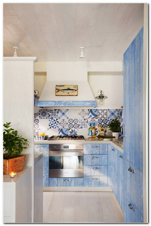 Muebles De Cocina Color Azul