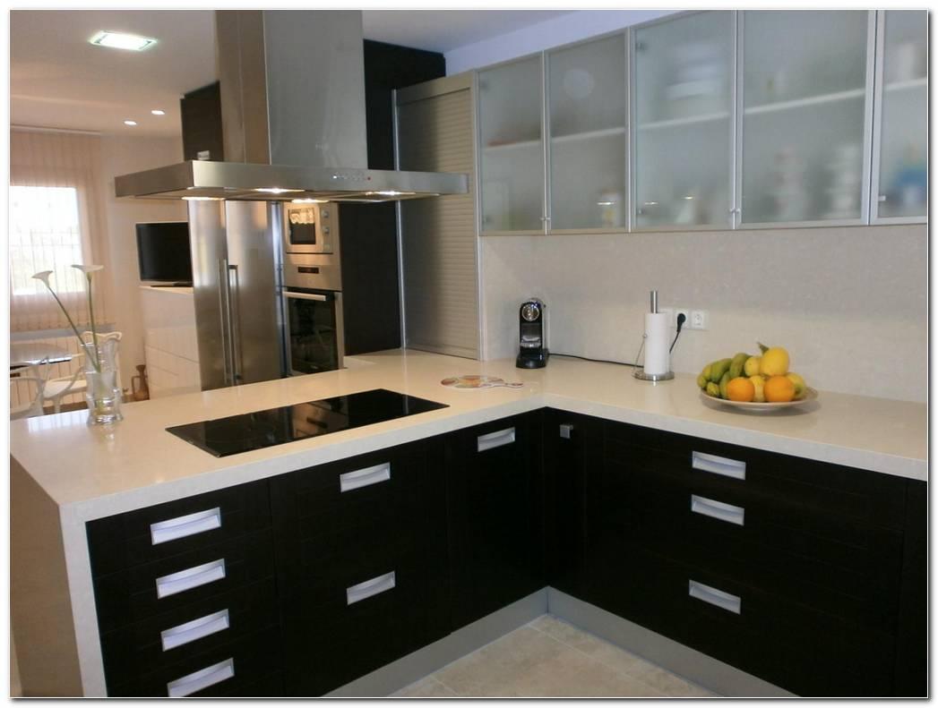 Muebles De Cocina Color Wengue Y Blanco
