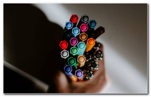 Multicolor Pen HD Wallpaper