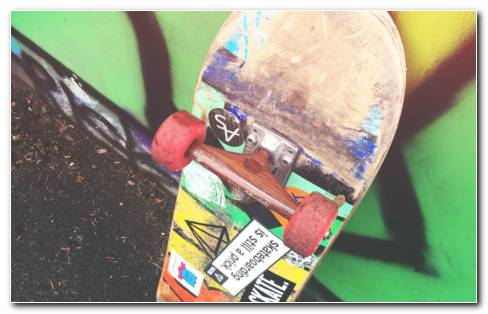 Multicolor Skateboard HD Wallpaper