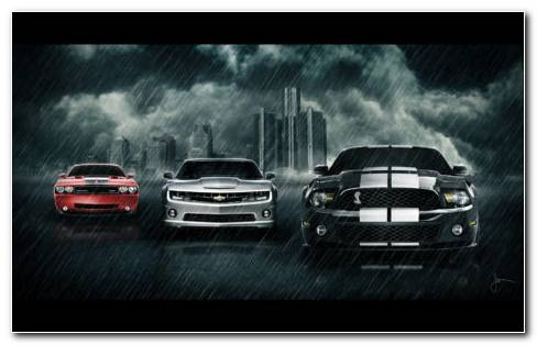 Muscle Cars HD Wallpaper