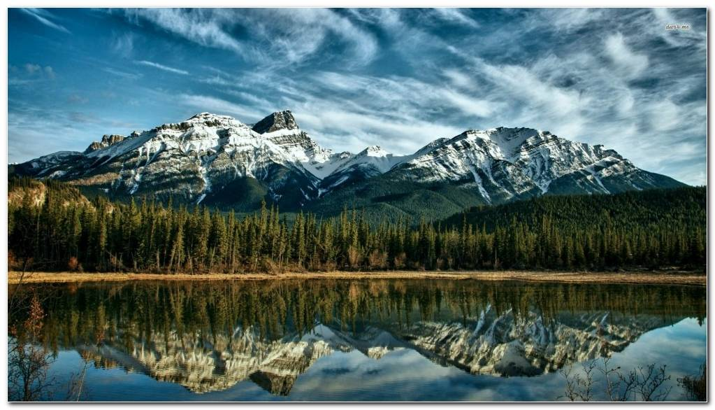 Nature Mountain Wallpaper Background Canadian Rockies