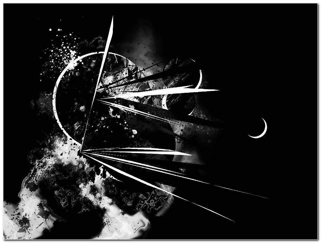 Negro Y Blanco Abstracto Black And White Abstract Wallpaper 1024x768
