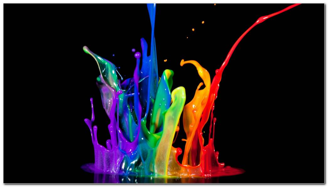 Neon Color .paint Color Splash Background Wallpaper