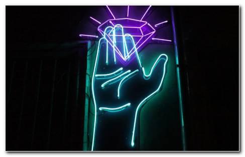 Neon Hand HD wallpaper