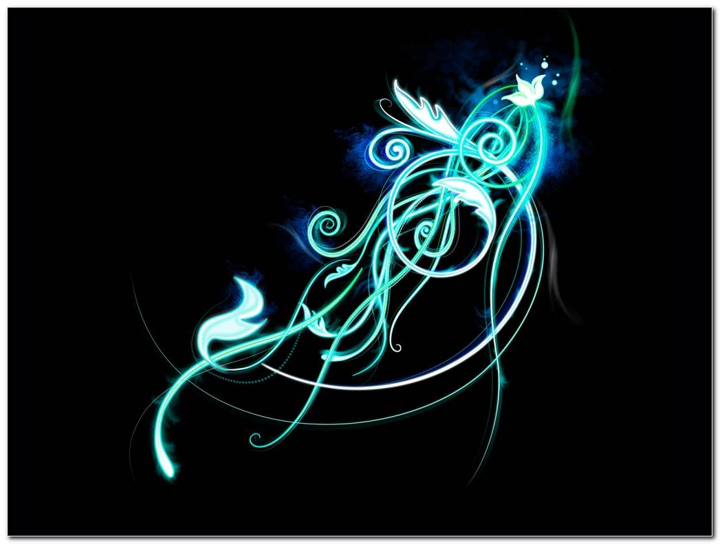 Neon Light Swirl Background Wallpaper