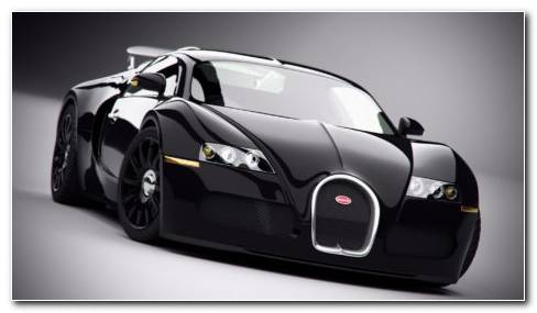 New Black Bugatti Veyron HD Wallpaper