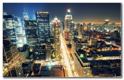 New York Night Lights HD wallpaper