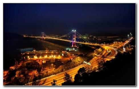 Night Bridge HD Wallpaper
