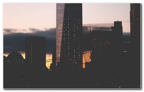 Night city background HD wallpaper