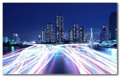 Night City Metropolis HD Wallpaper