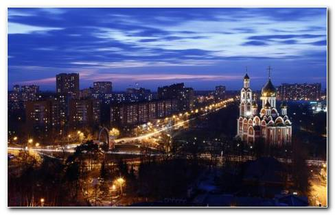 Night In Moscow HD Wallpaper