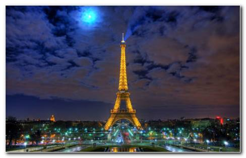 Night Of France Eiffel Tower HD Wallpaper