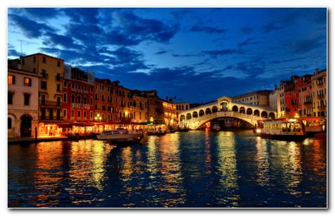 Nights Of Venice HD Wallpaper