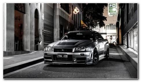 Nissan Auto Black HD Wallpaper