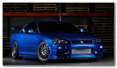 Nissan GTR Blue HD Wallpaper