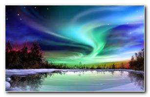 Northern Lights Scenery HD Wallpaper