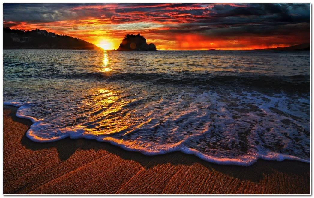 Ocean Sunset Nature Wallpaper Background