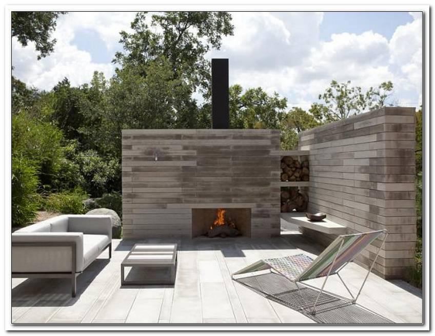 Offener Kamin Terrasse