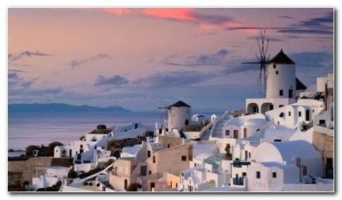 Oia Greece HD Wallpaper