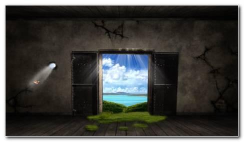 Open Door HD Wallpaper