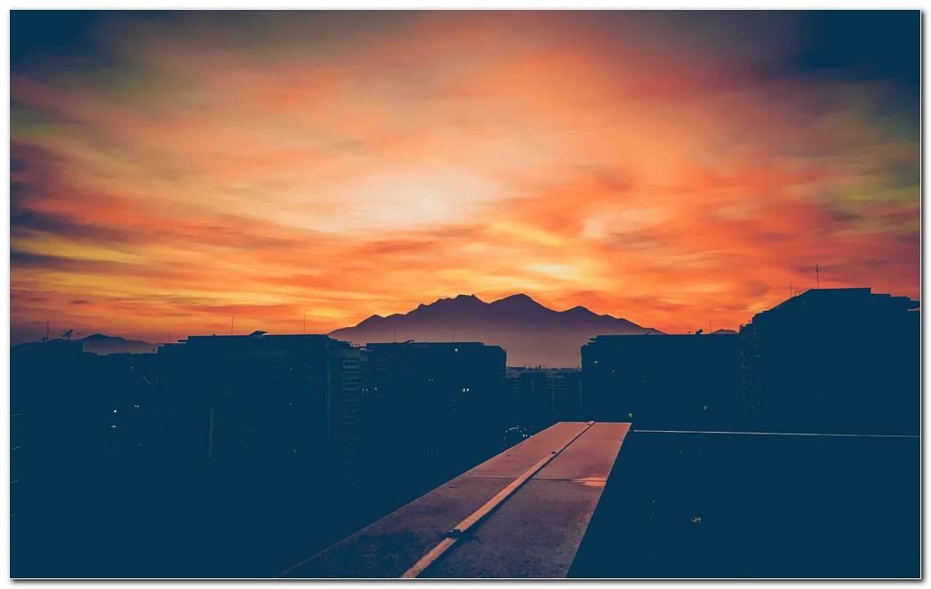 Orange Sky Sunset Wallpaper