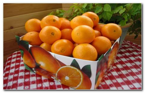 Oranges Bag HD Wallpaper